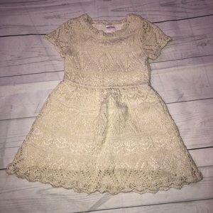 Cat and Jack Crochet Ivory Colored Dress 3T